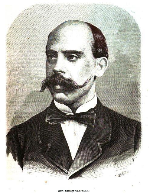 Emilio Castelar.Almanaque de La ilustracion de Madrid.1870