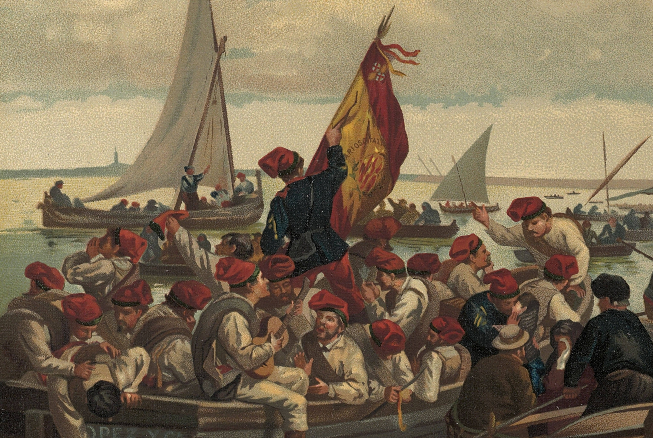 2- Embarque de la primera espedición de voluntarios catalanes a Cuba.