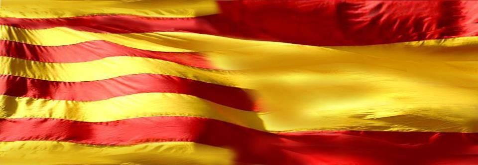 España y Cataluña, mismos colores en Tarragona. Doble patriotismo.