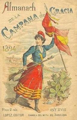 CAMPANA DE GRACIA 1894. PUBLICACION SATIRICO POLITICA EN  CATALAN