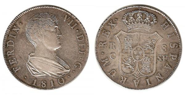8 reales fdovii 1810 reus