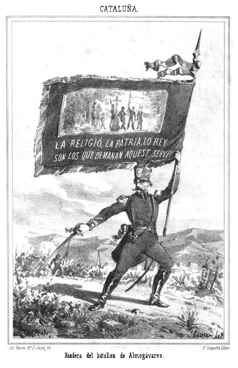 Bandera del batallon de Almogávares-1