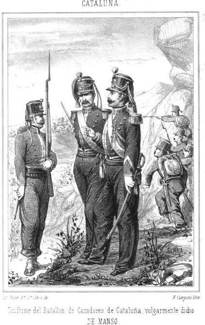 Batallon de Cazadores de CATALUÑA, Guerra de la INDEPENDENCIA ESPAÑOLA