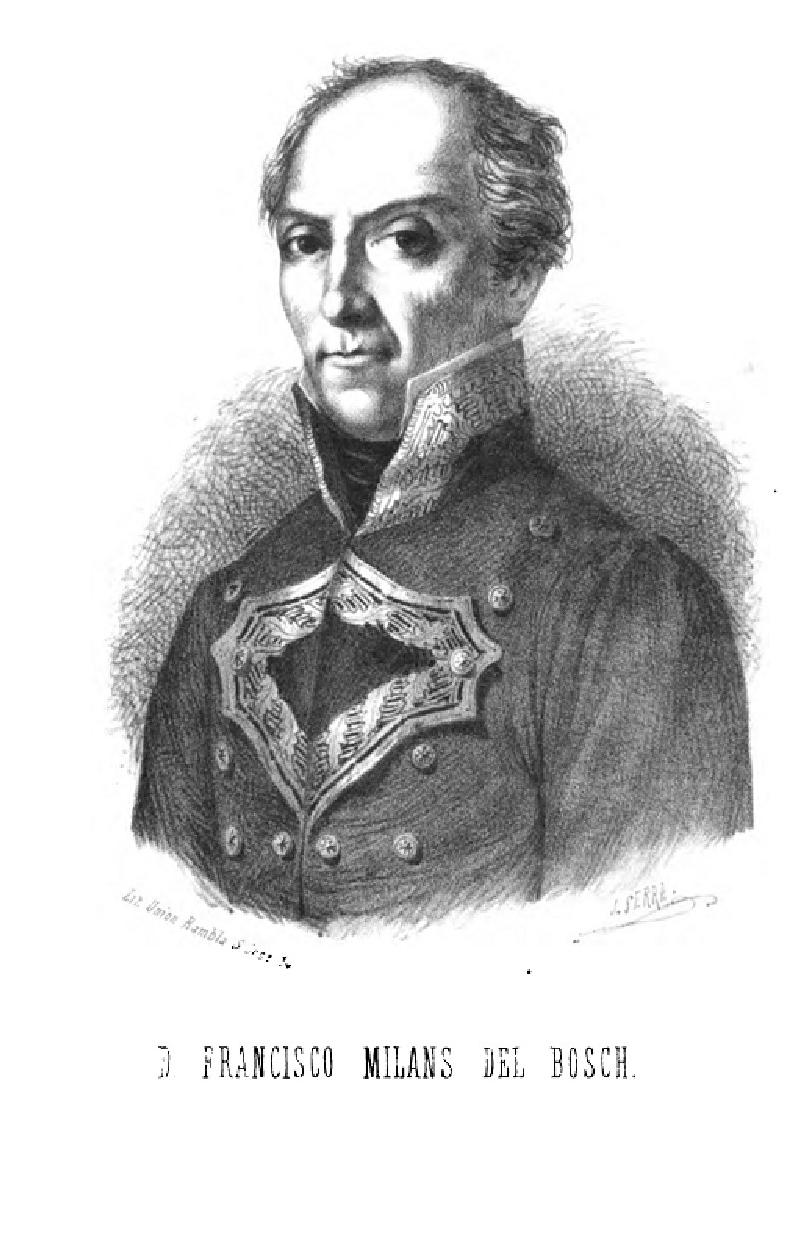 D. FRANCISCO  MILANS DEL BOSCH. BARCELONA