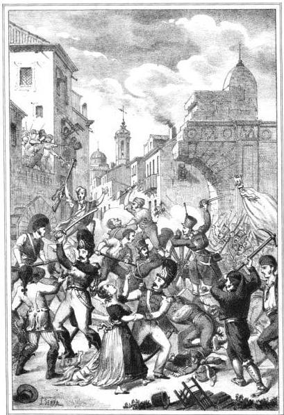 Entrada del General Lecchi en Mataro. 16 junio de 1808