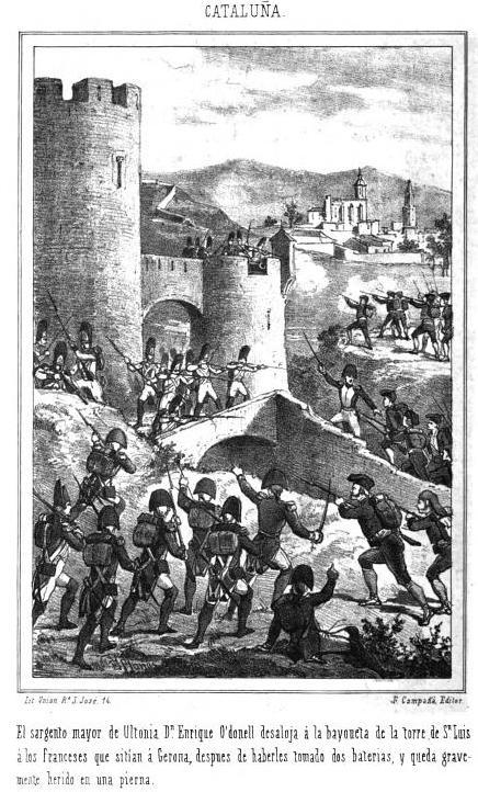 GERONA. Torre de  San Luis. Guerra de la Independencia Española.