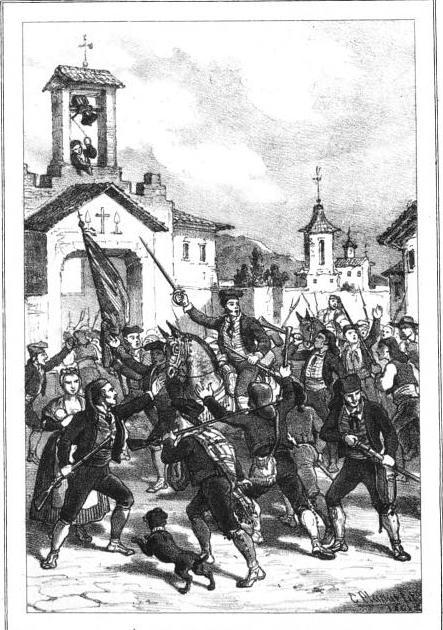 IGUALADA es la primera que se arma y marcha a las colinas del BRUCH.