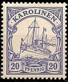 Islas Carolinas. Colonia Alemana 1900.