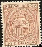 Sello con el escudo nacional. 1898-1899