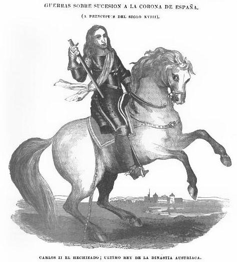 CARLOS II EL HECHIZADO.El Instructor nº 77 Mayo de 1840.