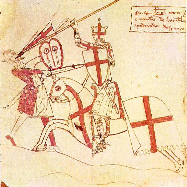 Ramón Berenguer con sus armas personales Cruz de San_Jorge