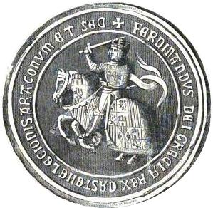 SELLO DE FERNANDO EL CATOLICO.Historia del reinado de los Reyes Catolicos, D. Fernando y Da. Isabel.Madrid. 1866