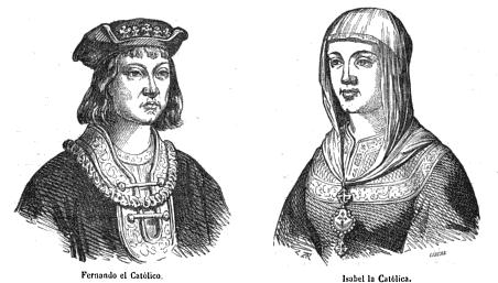 Vida y viajes de Cristóbal Colón. Madrid 1852.Fernando e Isabel.