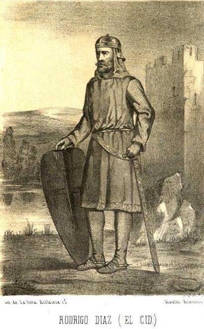RODRIGO DIAZ EL CID.Historia general de España desde los tiempos primitivos. Tomo II. Madrid 1860