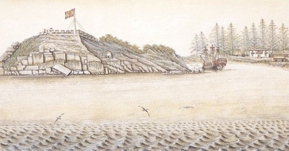 Spanish_fort_San_Miguel_at_Nootka_in_1793