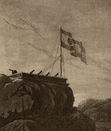 Nuestra bandera ondeando en Alaska.
