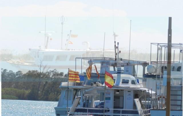 Hermandad con los mismos colores en el delta del Ebro. Tarragona